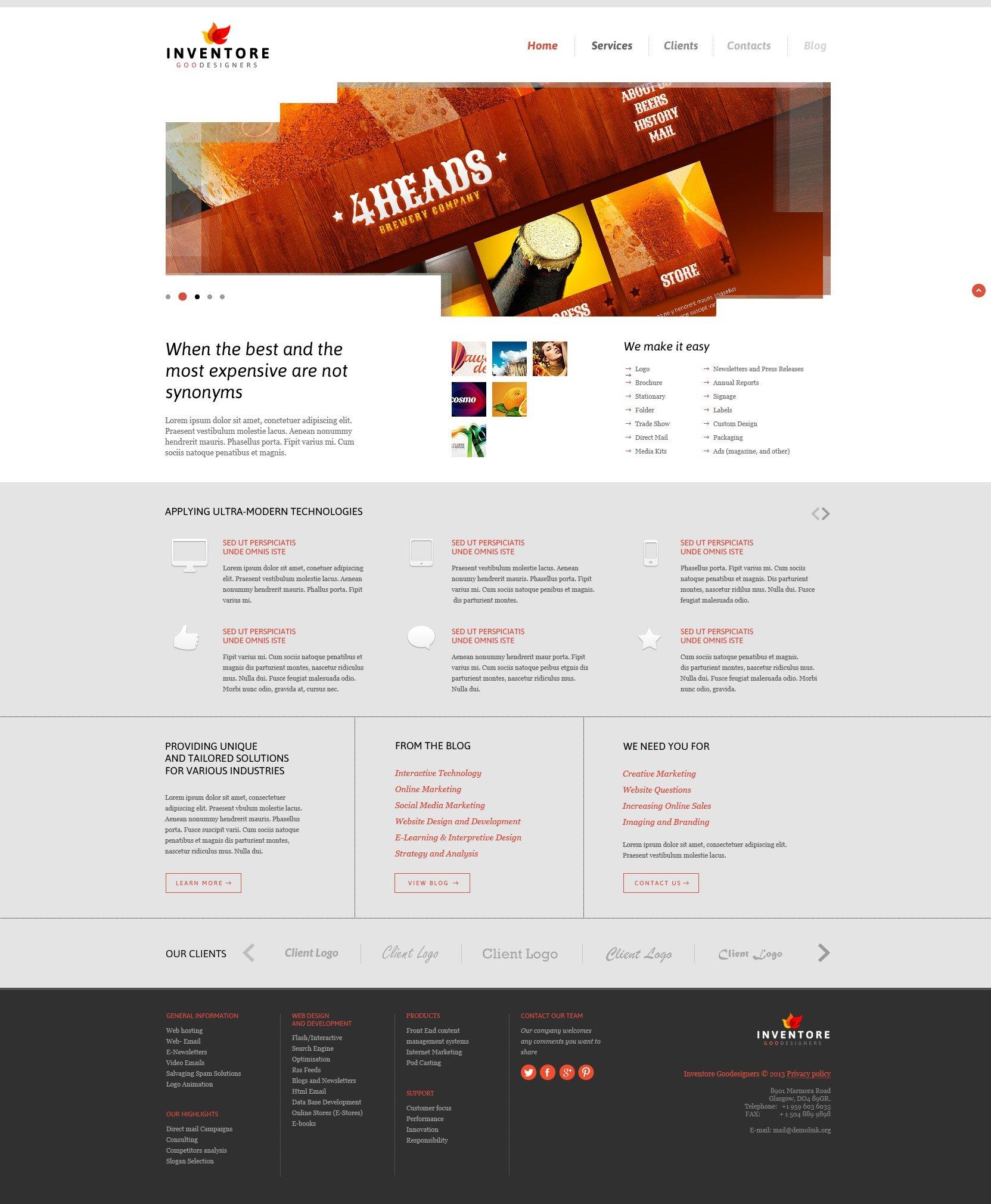 Design Studio Joomla Template - screenshot