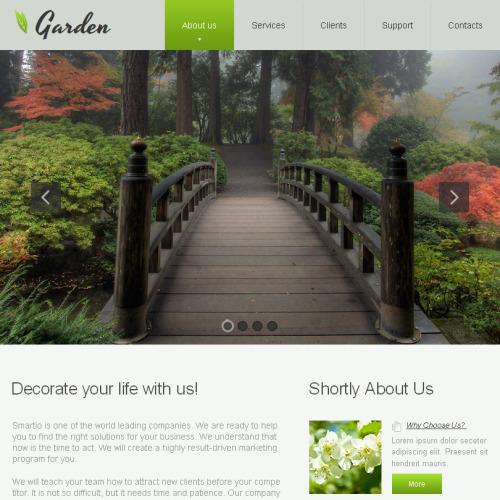 Garden - Facebook HTML CMS Template