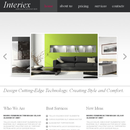 Interiex - Facebook HTML CMS Template