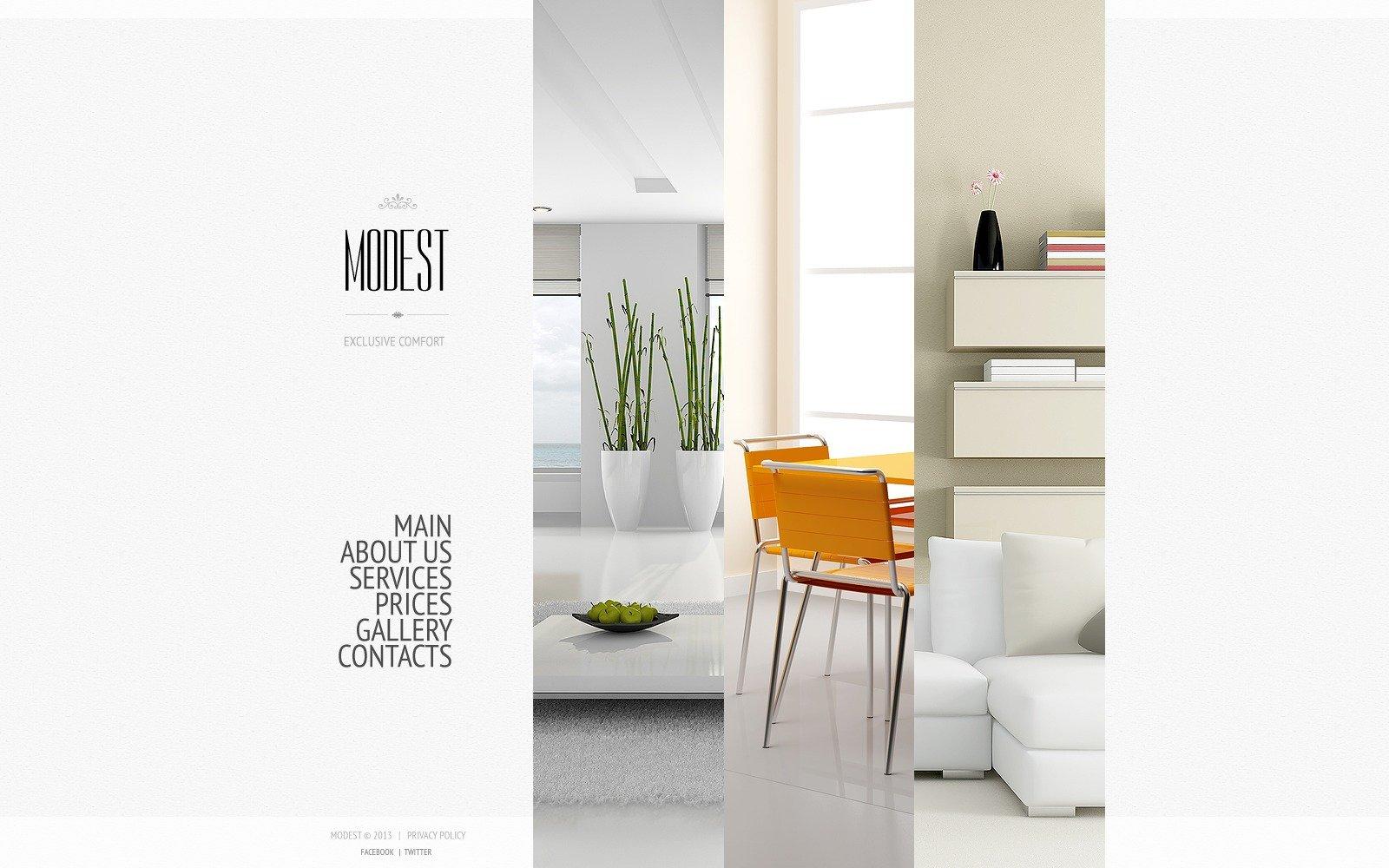 Interior Design Bootstrap Website