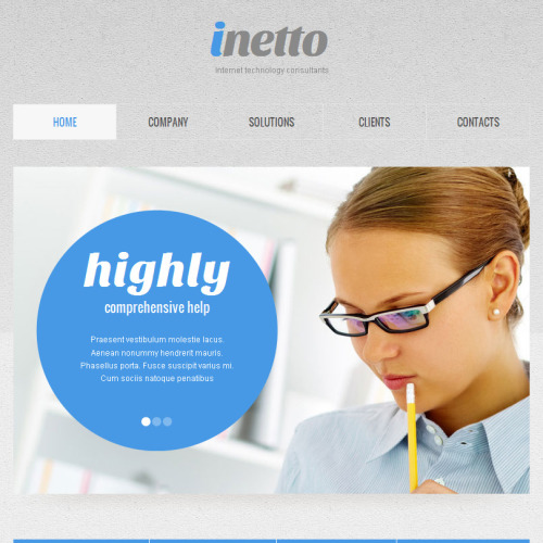 Inetto - Facebook HTML CMS Template