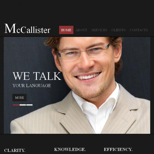 McAllister - Facebook HTML CMS Template
