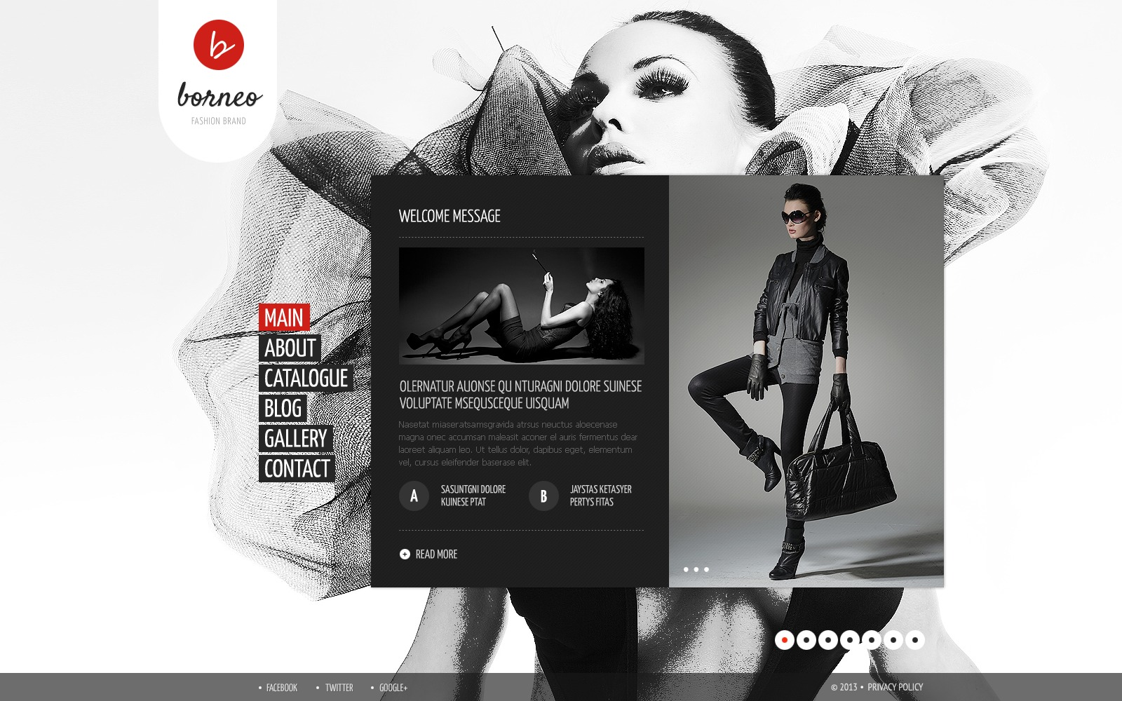 Modèle Web pour site de vêtements #43427 - screenshot