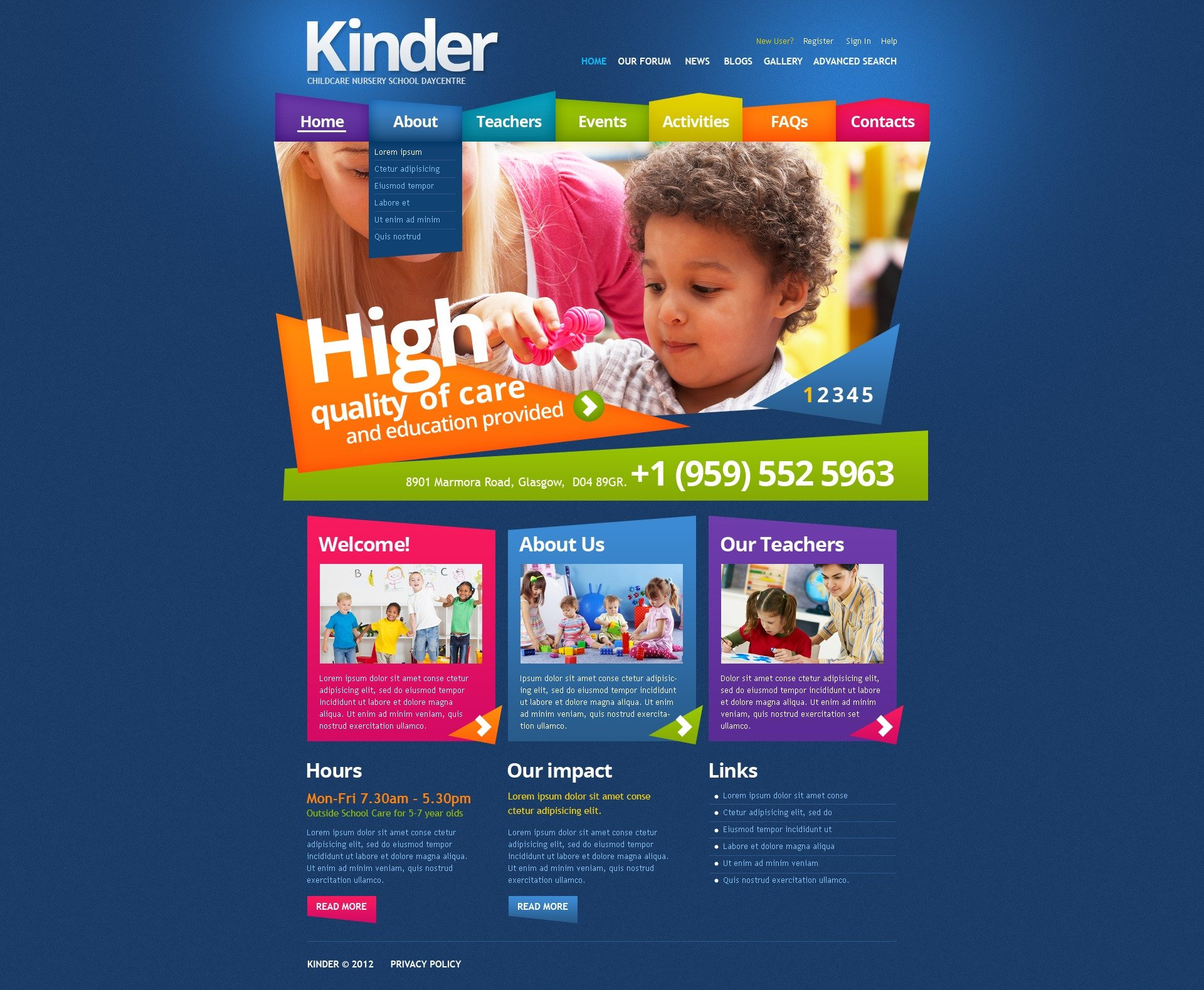 Primary School Drupal Template - screenshot