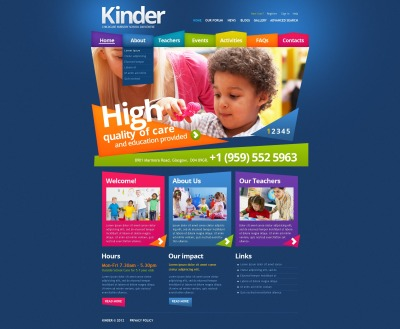 Primary School Drupal Template #43465
