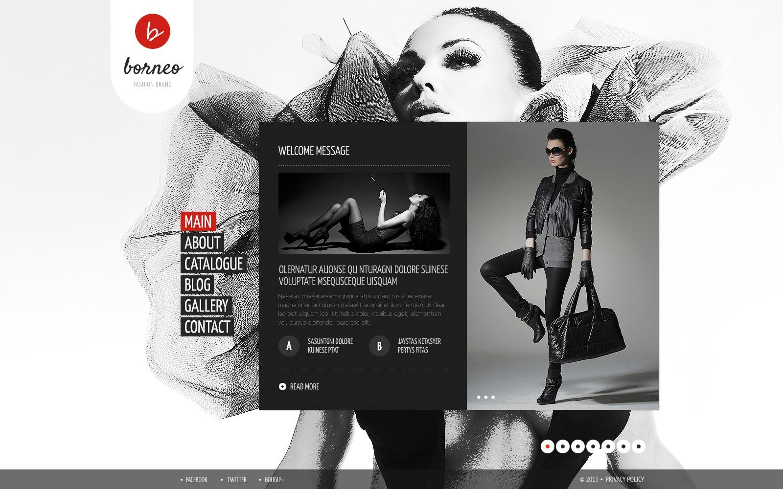 Szablon Strona Www #43427 na temat: odzież - zrzut ekranu