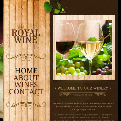 Royal Wine - Facebook HTML CMS Template