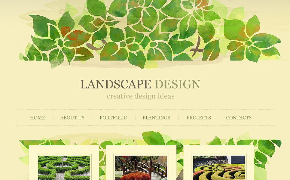 Premium Flash CMS Template over Landschapsontwerp  New Screenshots BIG