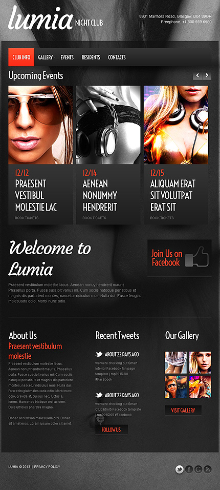 ADOBE Photoshop Template 43505 Home Page Screenshot