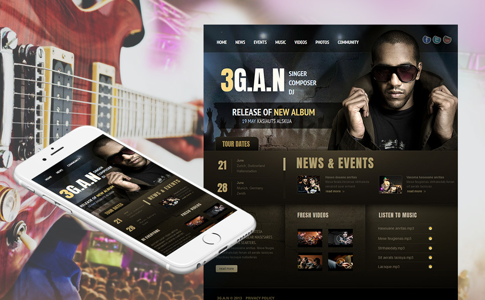 Premium Moto CMS HTML Template over Zanger  New Screenshots BIG