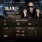 Music Moto CMS HTML  Template 43506