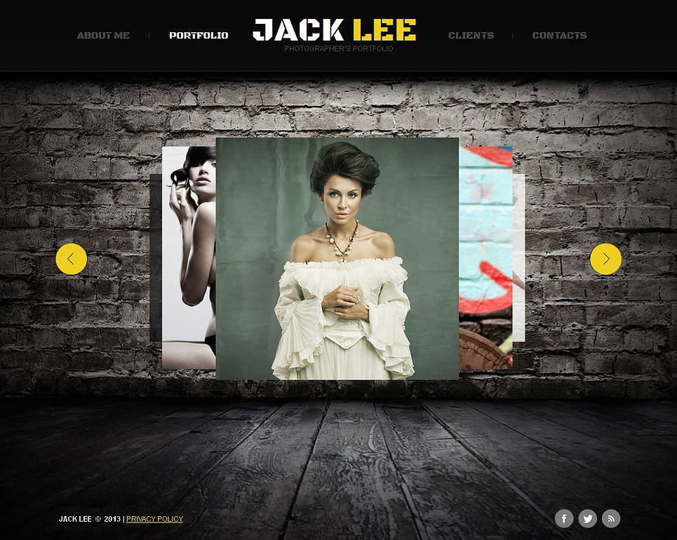 Photographer Portfolio Website Template with a Carousel Gallery - image