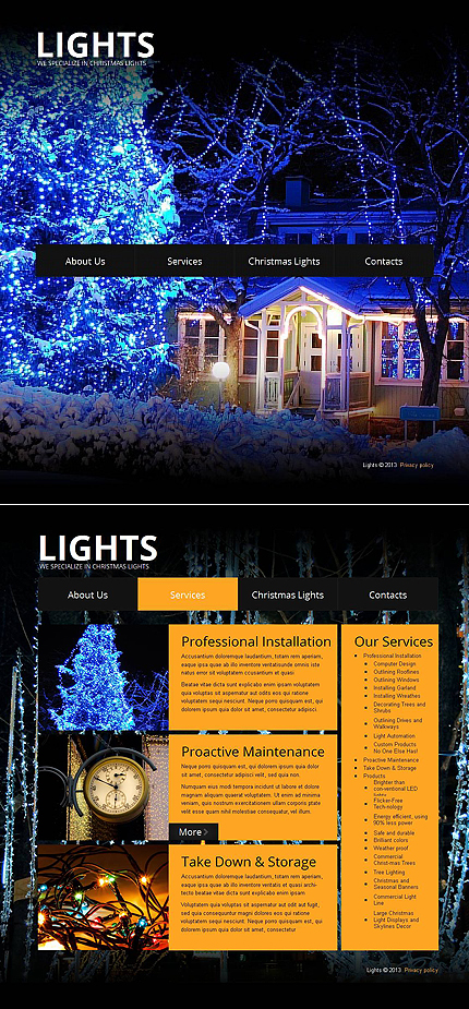 ADOBE Photoshop Template 43512 Home Page Screenshot