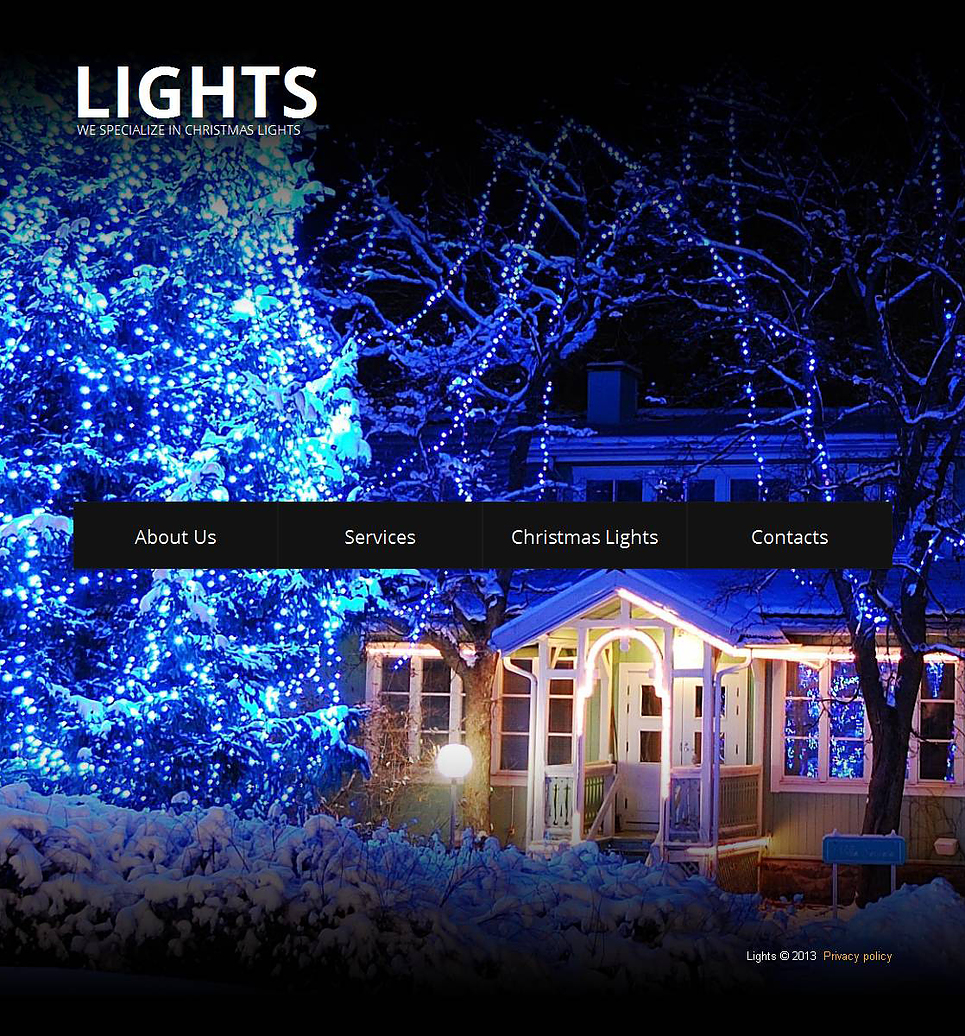 Christmas Website Template with Full-Screen Background Image Slider - image