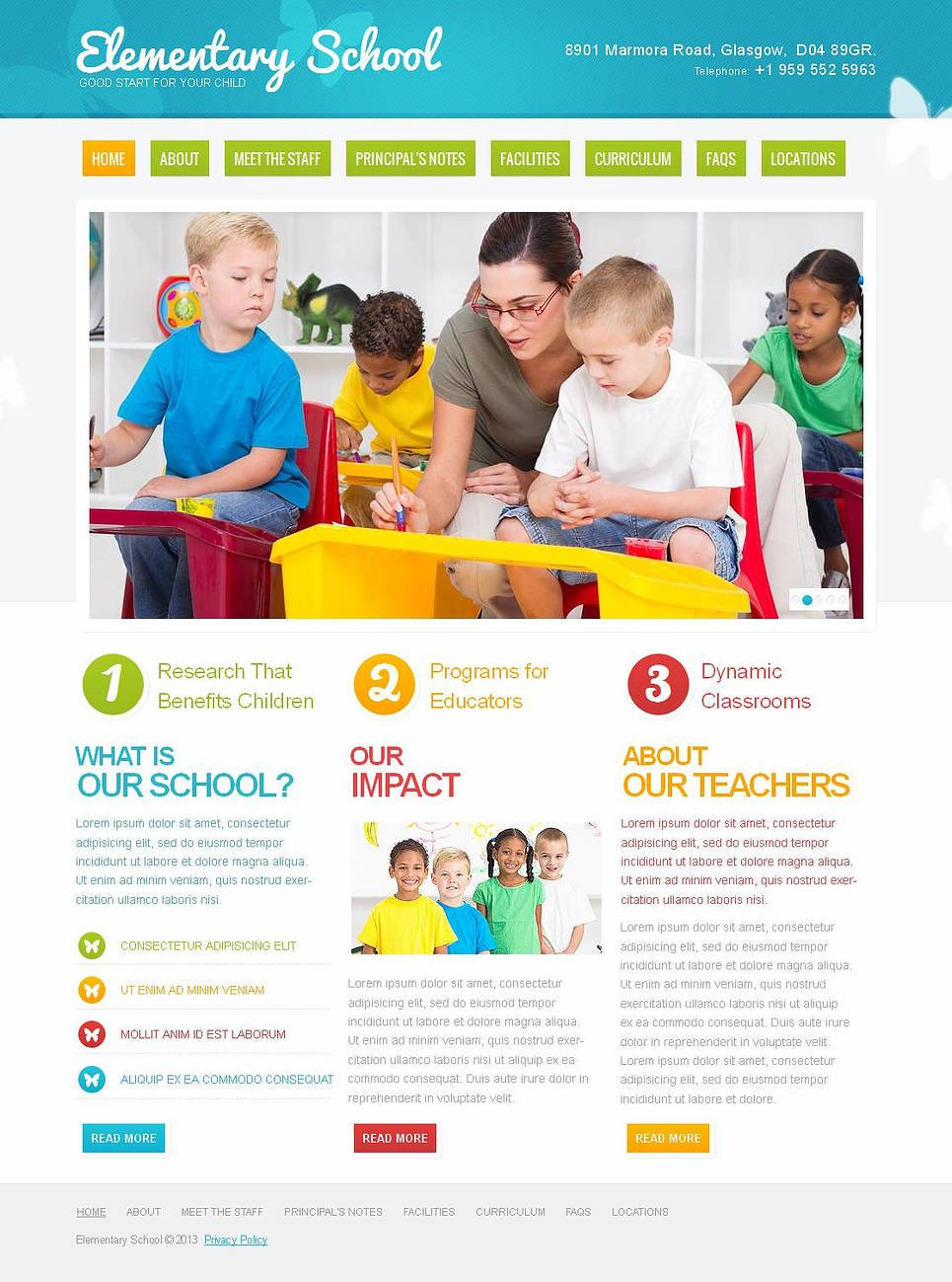 Kids Education Website Template with Eye-catchy Design - image