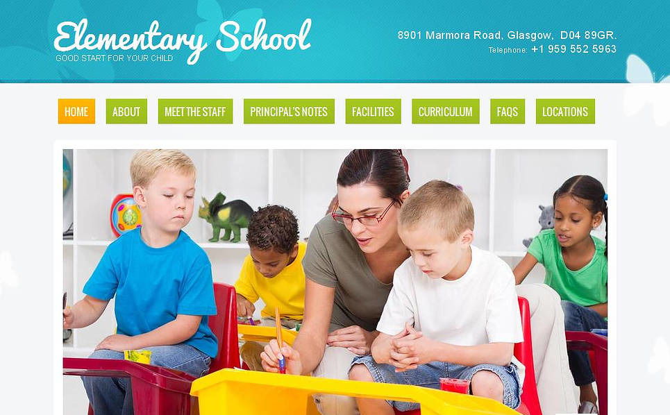 Template Moto CMS HTML para Sites de Escola Primaria №43513 New Screenshots BIG