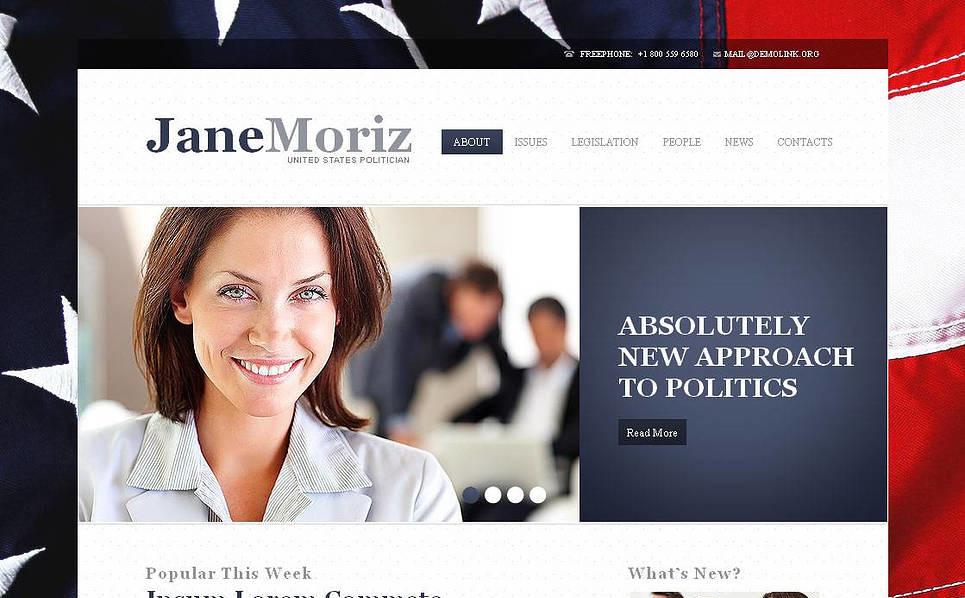 Moto CMS HTML Vorlage für Politischer Kandidat  New Screenshots BIG