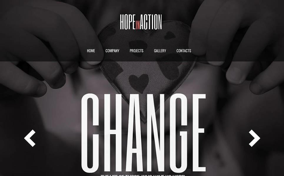 Szablon Moto CMS HTML #43520 na temat: dobroczynność New Screenshots BIG