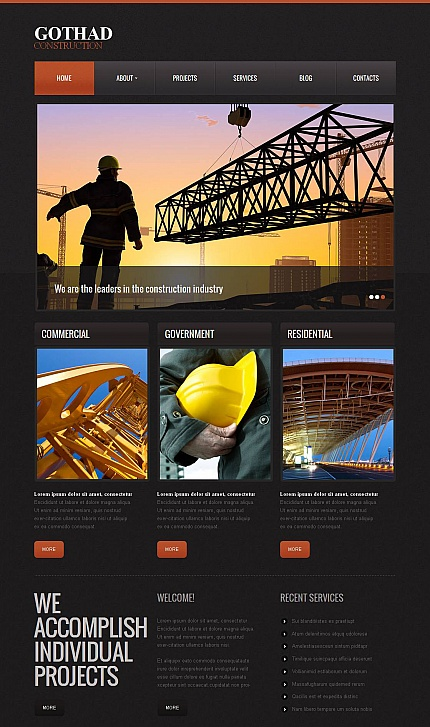 ADOBE Photoshop Template 43521 Home Page Screenshot