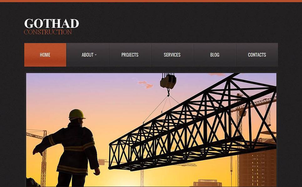 Template Moto CMS HTML para Sites de Empresa de Construção Civil №43521 New Screenshots BIG