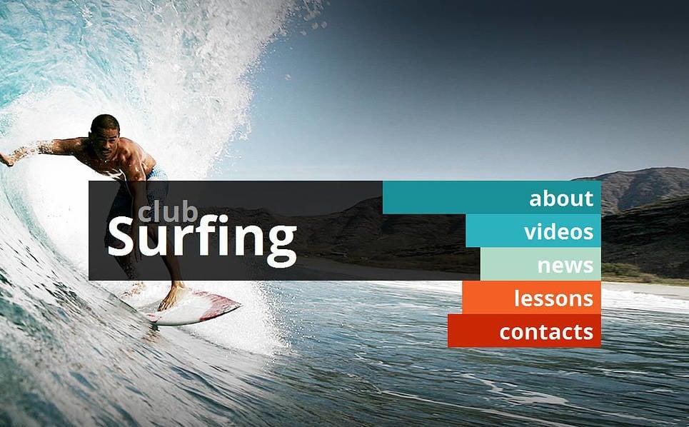Modèle Moto CMS HTML  pour sites de surf New Screenshots BIG