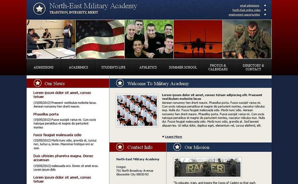 Premium Moto CMS HTML Template over Militaire New Screenshots BIG