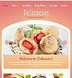 Food & Drink Facebook HTML CMS  Template 43525
