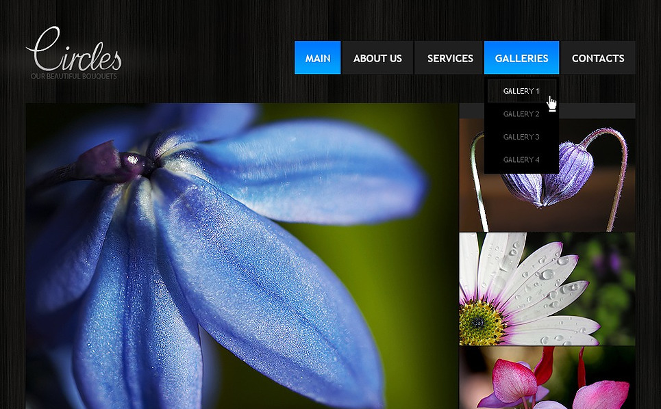 Facebook HTML CMS Vorlage für Blumen  New Screenshots BIG