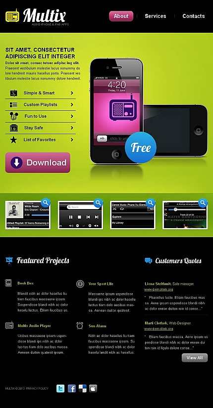 ADOBE Photoshop Template 43541 Home Page Screenshot