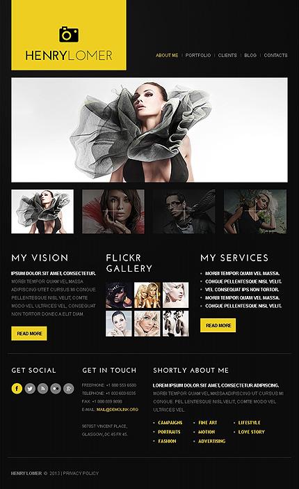 ADOBE Photoshop Template 43549 Home Page Screenshot