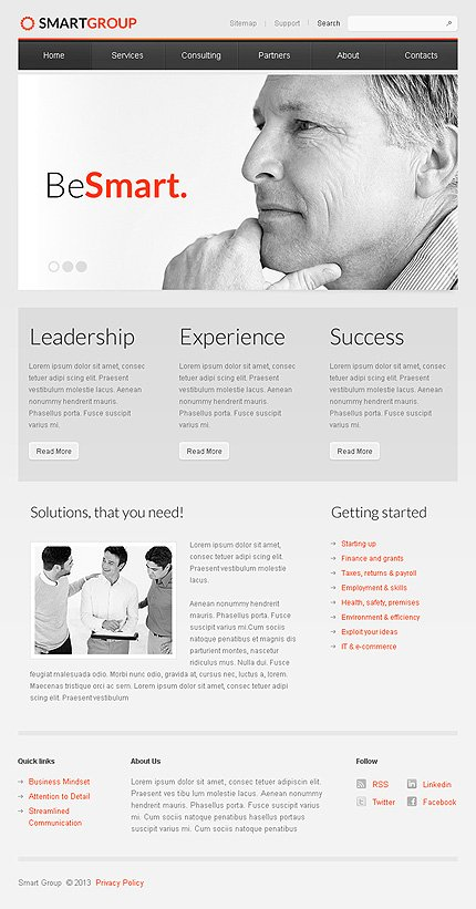 ADOBE Photoshop Template 43550 Home Page Screenshot