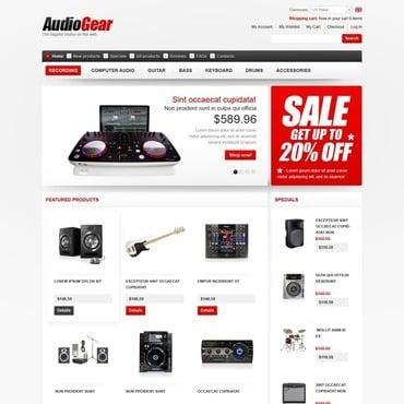 Купить  пофессиональные ZenCart шаблоны. Купить шаблон #43571 и создать сайт.