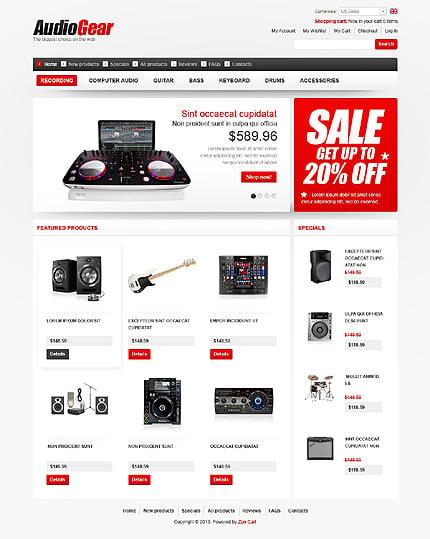 ZenCart Template 43571 Main Page Screenshot