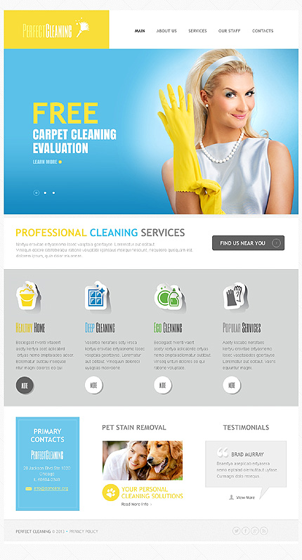 Drupal Template 43572 Main Page Screenshot