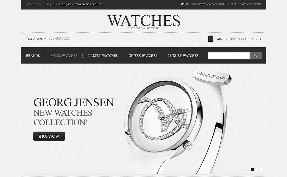 Plantilla OpenCart #43580 para Sitio de Relojes New Screenshots BIG