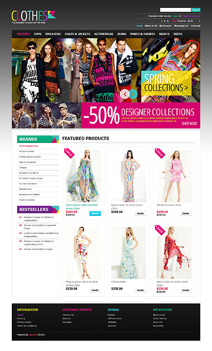 ADOBE Photoshop Template 43581 Home Page Screenshot