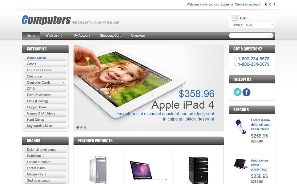 Szablon OpenCart #43582 na temat: sklep komputerowy New Screenshots BIG