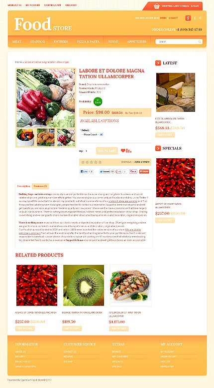 ADOBE Photoshop Template 43583 Home Page Screenshot