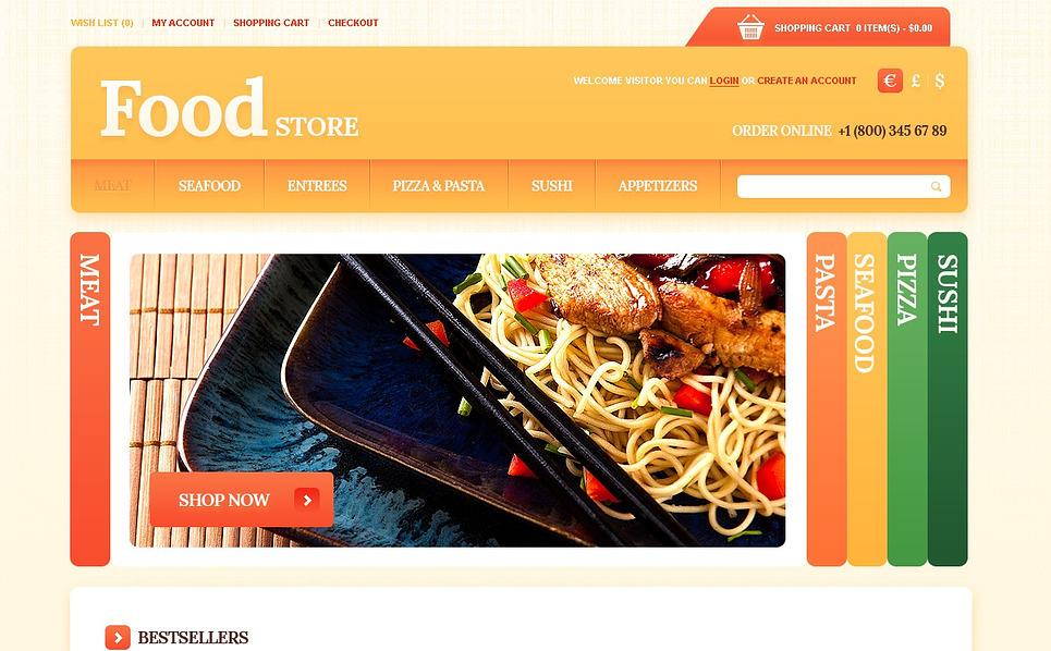 """OpenCart Vorlage namens """"Lebensmittelgeschäft """" New Screenshots BIG"""