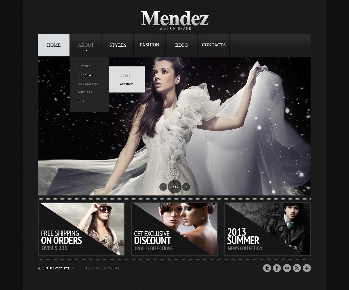 Modello siti web per un sito di abbigliamento for Siti web di costruzione domestica