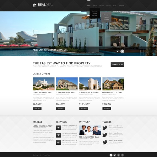 Real Deal - HTML5 Drupal Template