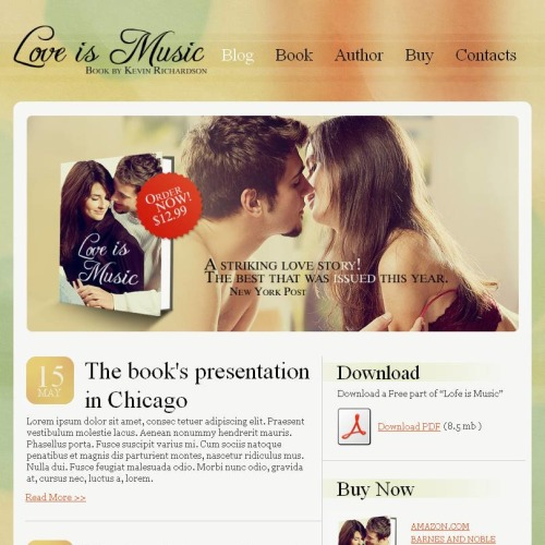 Love Is Music - Facebook HTML CMS Template