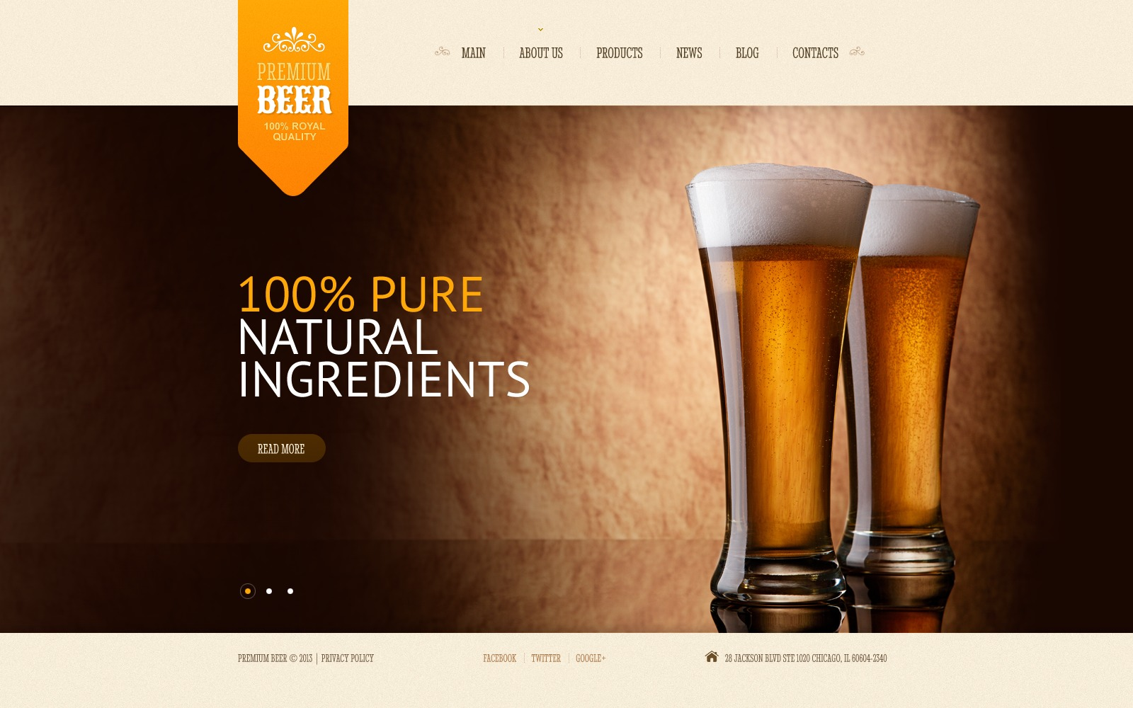 Brewery website template 43563 for Brewery design software