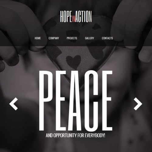 Hope In Action - Facebook HTML CMS Template