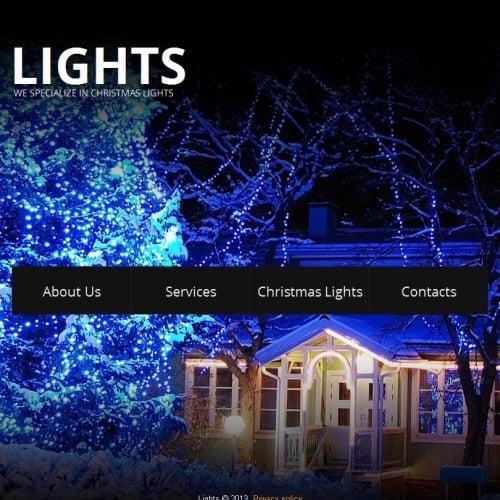 Lights - Facebook HTML CMS Template