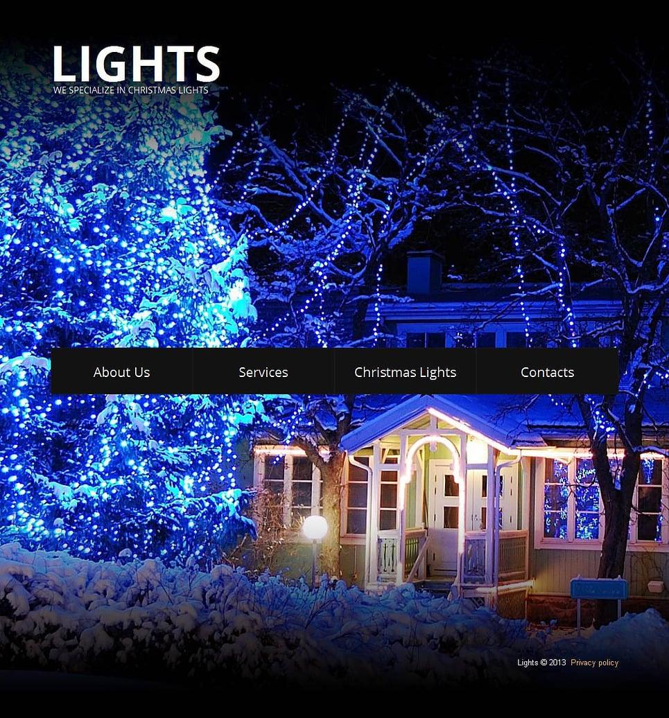 Christmas Moto CMS HTML Template New Screenshots BIG