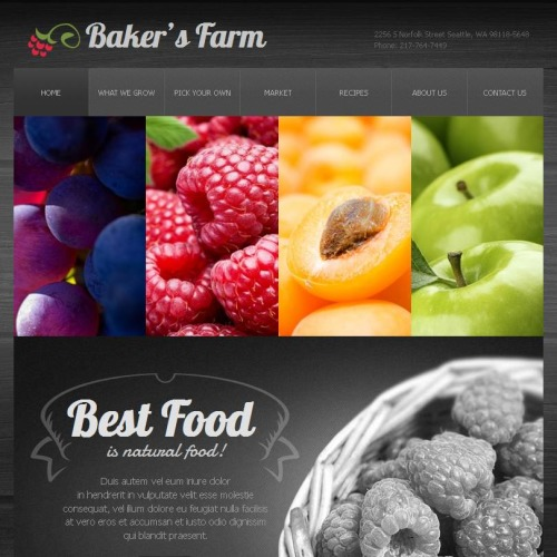 Bakers Farm - Facebook HTML CMS Template