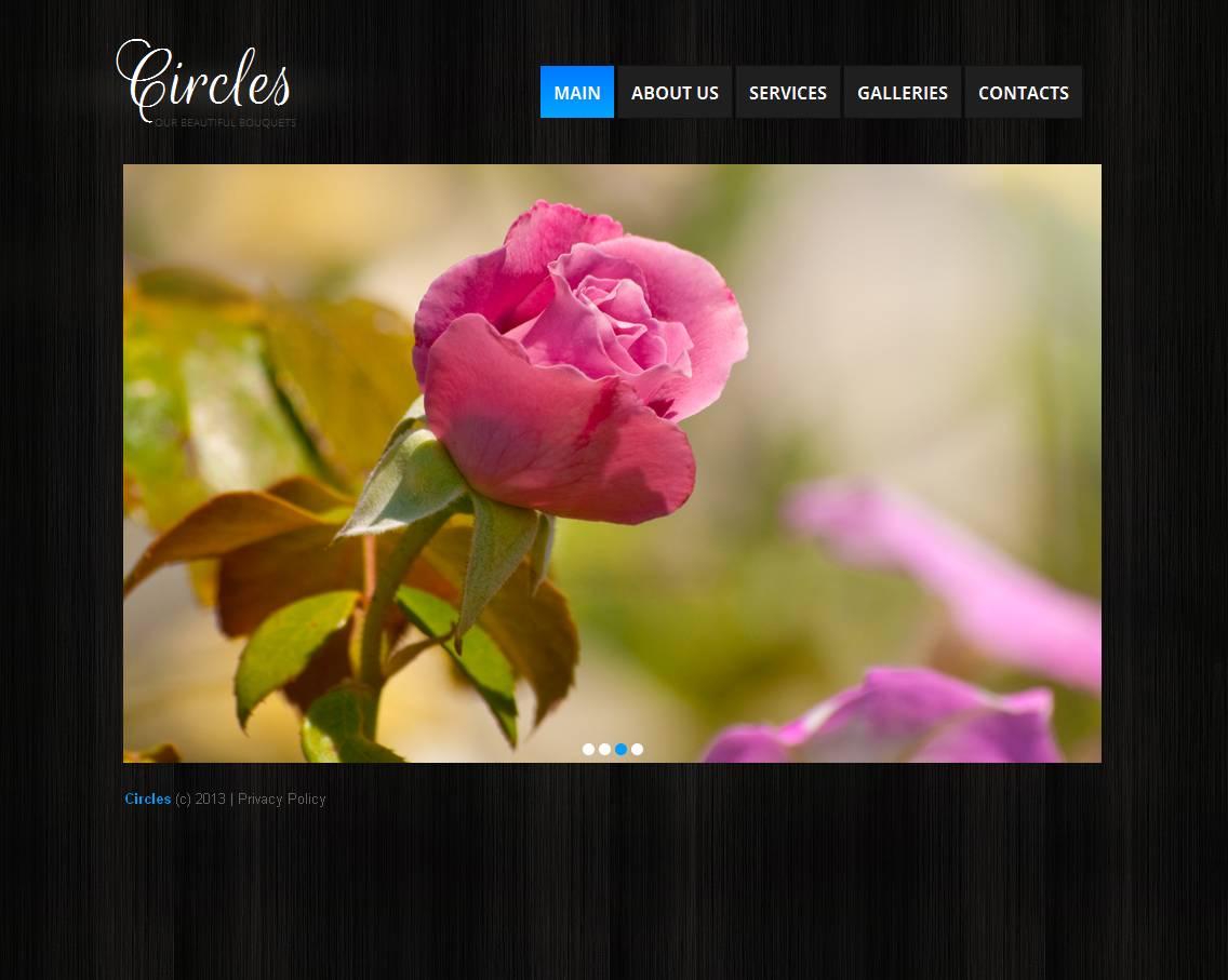 Flower Shop Moto CMS HTML Template