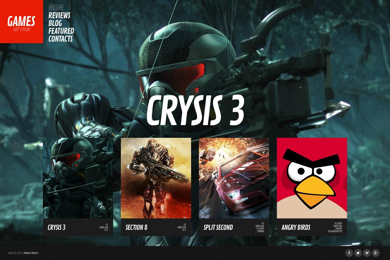 Games Website Template - screenshot