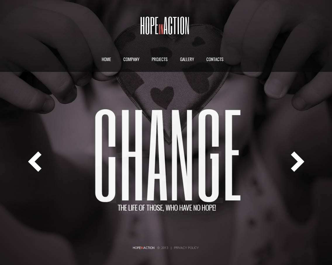 Modèle Moto CMS HTML Premium pour site d'association caritative #43520